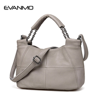 EVANMO Best Special Offer Bucket Quality Genuine Leather Women Handbags Brand Tote Bag Plaid Top handle Famous Designer Totes
