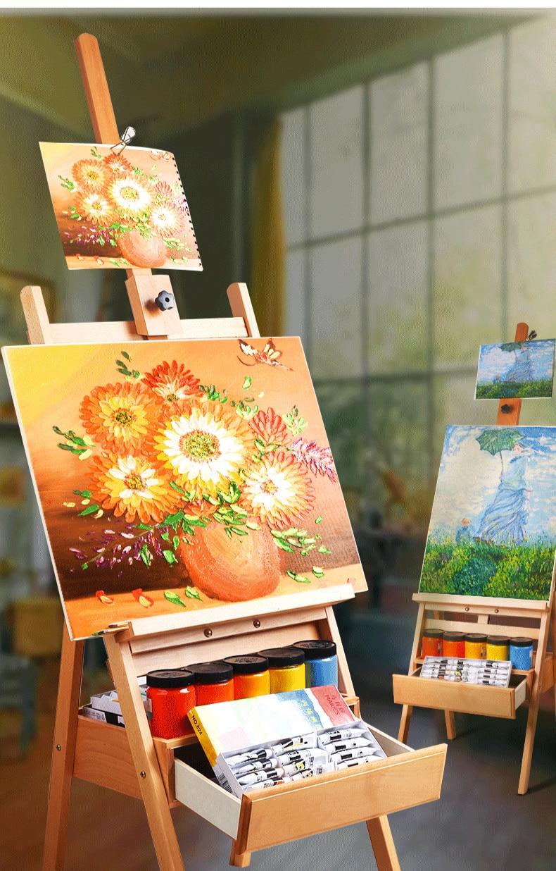 Pintura A Óleo do Artista Cavalete de Arte Suprimentos