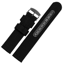 лучшая цена 18mm 20mm 22mm 24mm High Quality Nylon Watch Band Wrist Strap Belt Watchband Wristwatch Black Blue Brwon Green for Man Woman