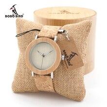 BOBO BIRD Mens women Fashion Causal White Maple Wood Bezel Ring Watch With Japan Quartz Movement custom logo gifts