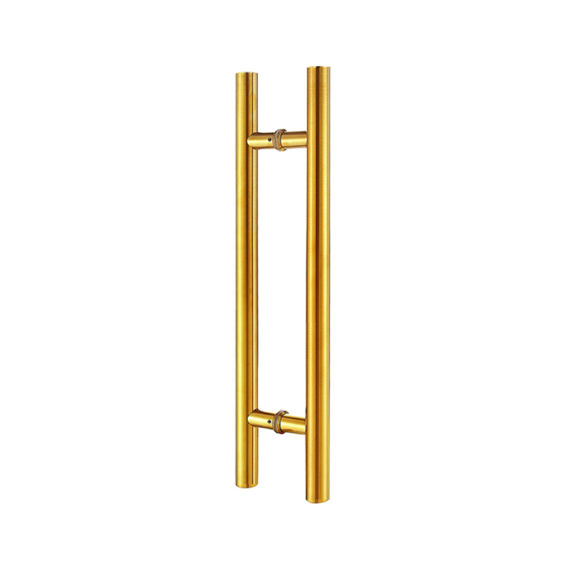 Entrance Door Handle 38*600mm Stainless Steel Pull Handle,Ti-Gold Electroplate Handles,CE Standard HM80 length 600mm arch style entrance pull handle elegant design modern stainless steel timber door pull push handles hm67