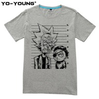 Yo Young Men T Shirts New Fashion Rick And Morty Funny Designs Digital Printed 100 Cotton