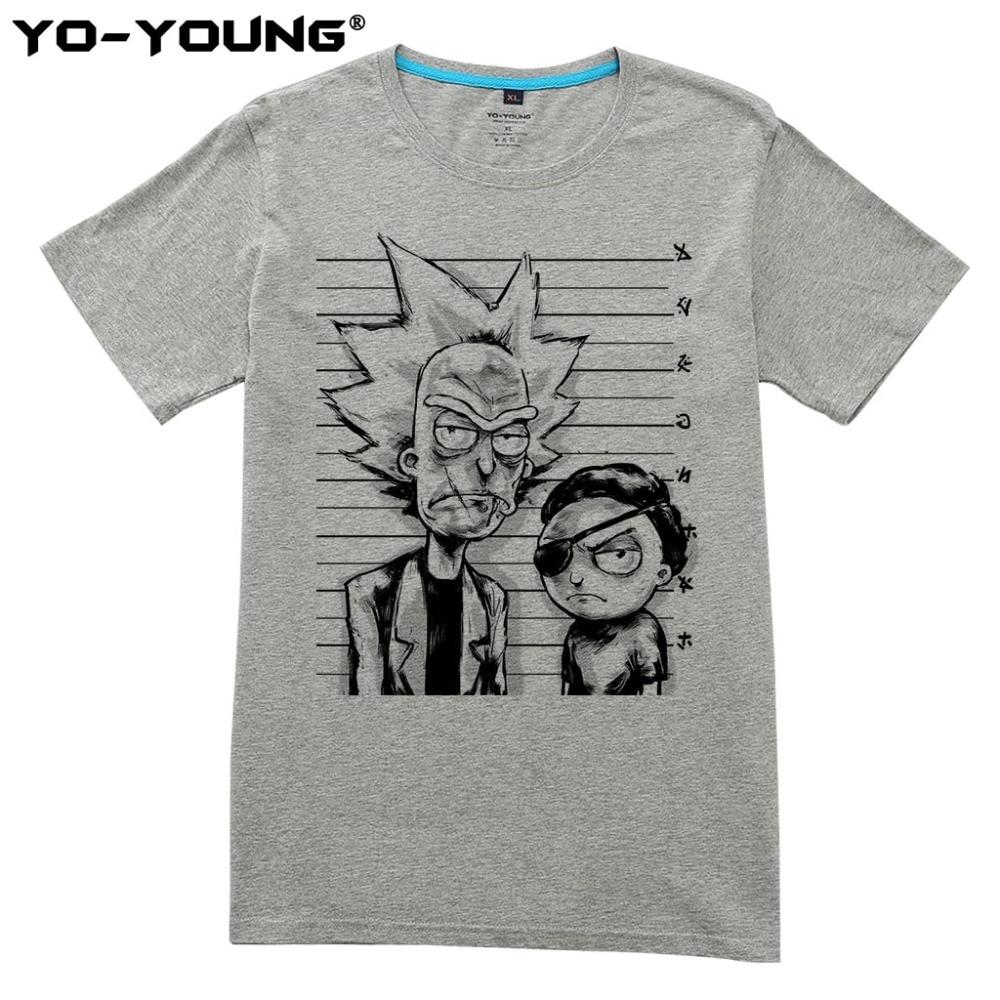 Yo-Young Rick Og Morty Bad Rick Men Premium T-shirts Roligt Design - Herretøj - Foto 1