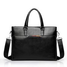 Купить с кэшбэком Ultra-thin Genuine Leather Men Bag Cowhide Briefcase Handbag Brand Designer Men Shoulder Bag Casual Fashion Business bag