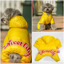 Warm Winter Snowsuit, Padded Hoodie, Jumpsuit Coat for Dogs