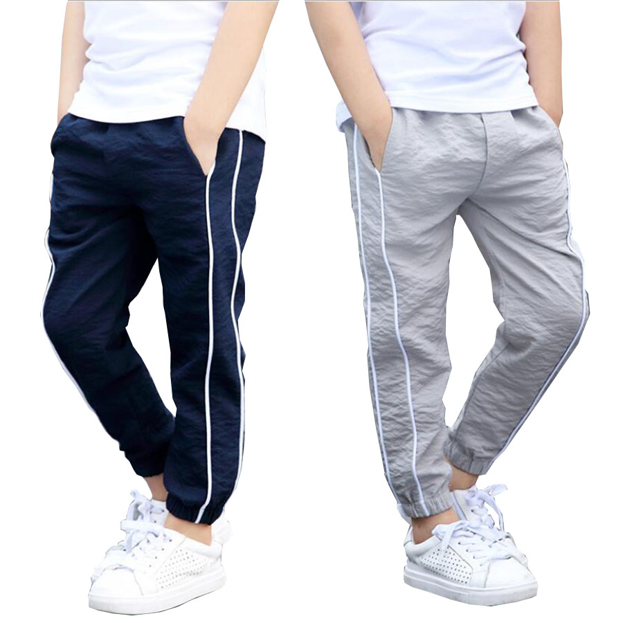 Boys clothes kids long summer cool ankle-length trousers boys casual pants boys outwear 4-16Y child outwear teenage sport pants drawstring floral casual ankle length pants