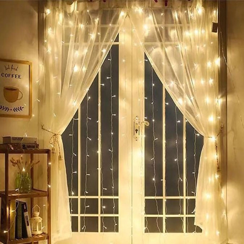 Luces IP44 UL Outdoor Indoor Ice Decoration Light Curtain 588 Waterproof Light Christmas 3x3 Light 300LED Bar Meter Curtain # christmas pine baubles print fabric waterproof shower curtain