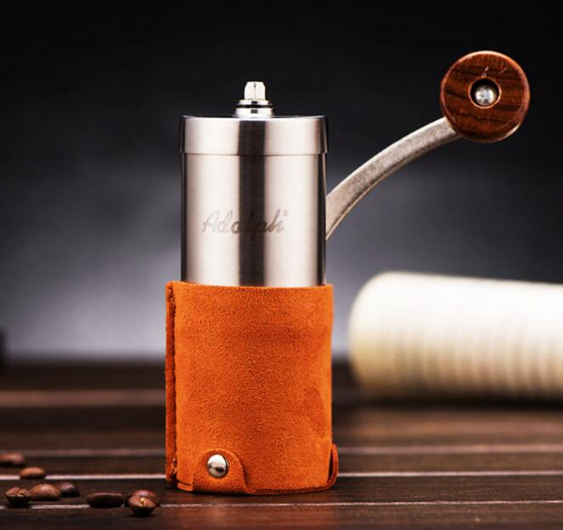 Manual Stainless Steel  Coffee Grinder Conical Burr Mill for Precision Brewing Brushed manual coffee grinder conical burr mill stainless steel portable hand burr grinders