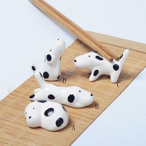 Японский котенок рыба блюдо щенок костяная подставка для палочек для еды керамическая маятниковая стойка для палочек для еды ремесло
