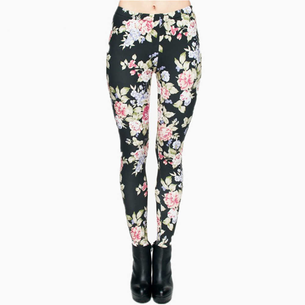 0eb57416b8b8a Hot Women Clothing Full Length 3D Graphic Full Print Fresh Flowers Leggings  Sexy Fitness Punk Leggings