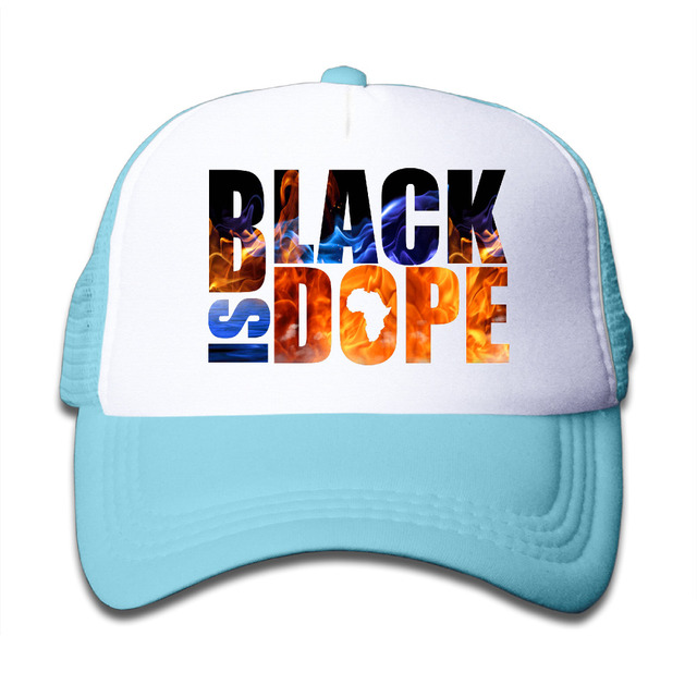 56b35137204d8 black is dope Girls Boys Unisex Trucker Hats Bones Tumblr Caps Children  Mesh Hat alien Baseball Cap Tumblr Snapback