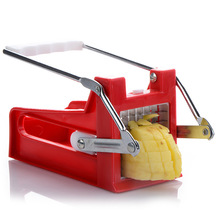 Aihogard Stainless Steel Potato Chipper French Fries Slicer Chip Cutter Maker Chopper Kitchen Tool