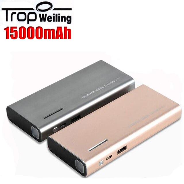 Tropweiling power bank 18650 15000 мАч банки питания портативное зарядное устройство для Всех телефонов bateria наружный