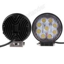 high quality 2pcs 27W LED work light lamp round spot beam off Road Fog light ATV Tractor Train Bus Boat  4inch 12V  work light