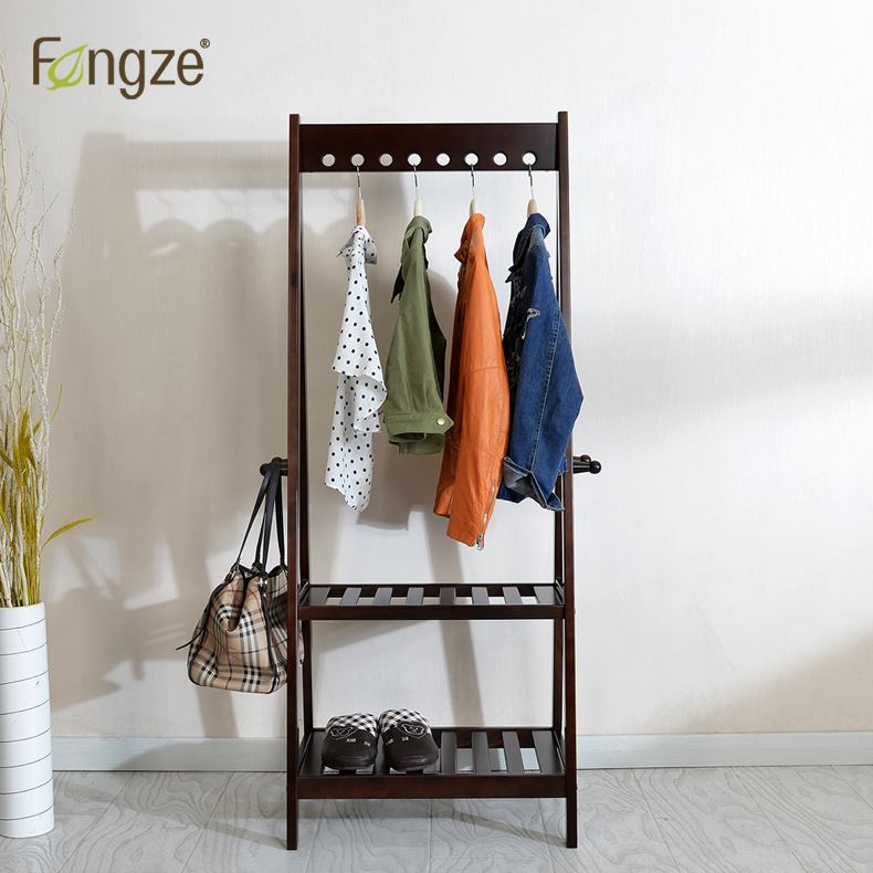 FengZe Furnishing FZ907 Modern Simplicity Hat Rack Solid oak&birch Hall Living Standing Hanger Scarves Hats Bags Clothes Shelf купить