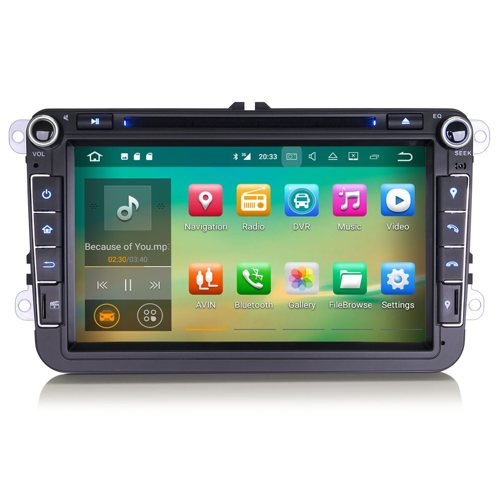 erisin es3715v 8 android 7 1 car dab gps stereo system. Black Bedroom Furniture Sets. Home Design Ideas