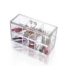 1 Laptop Pop Rectangle Acrylic Storage Field Stackable Desktop Make-up Organizer Comestic Jewellery Lipstick Sticks Show Clear