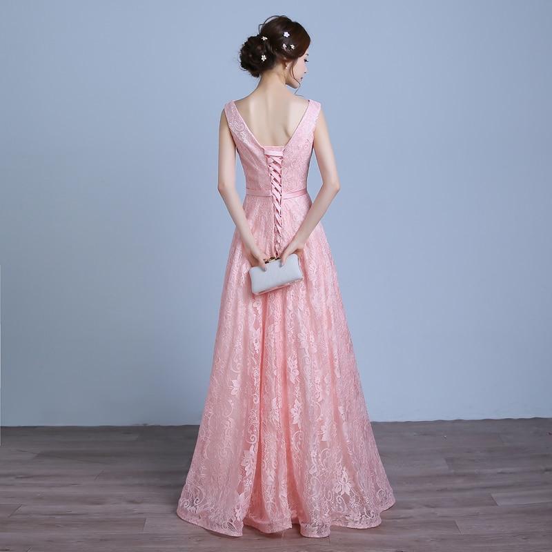 Real Photo Women Long Formal Prom Gown V Halskjede Kjole - Spesielle anledninger kjoler - Bilde 3