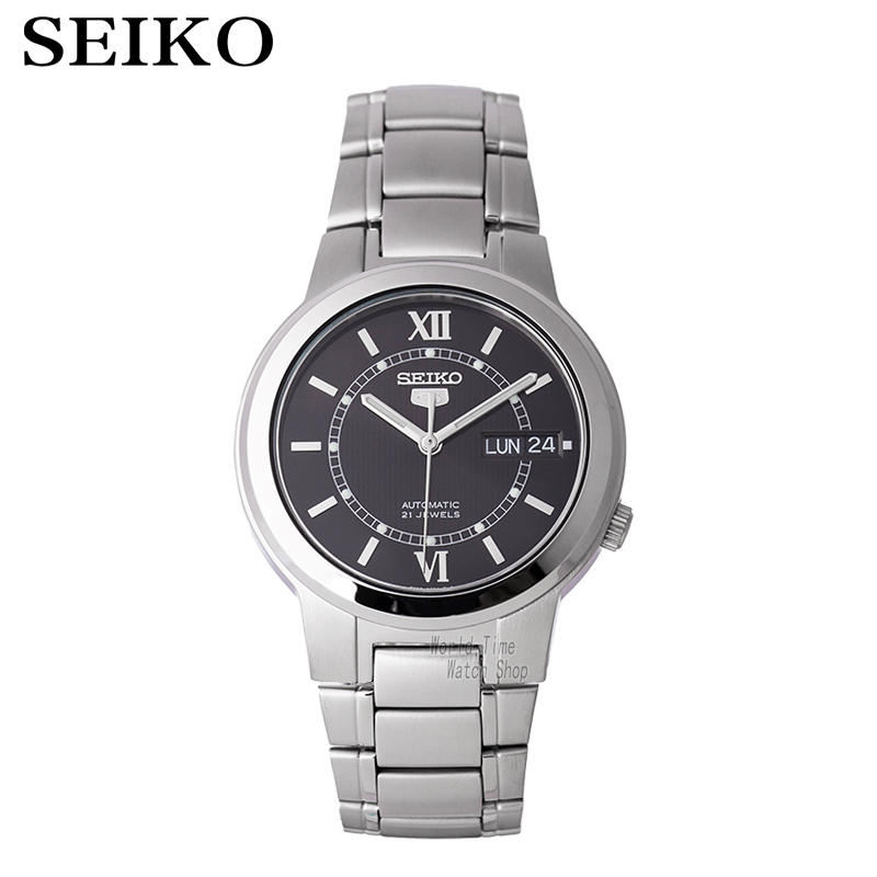 лучшая цена SEIKO Watch No. 5 Automatic Mechanical Watch Steel Strap Men 'S Watches SNKL89K1 SNKK33J1 SNKA23K1