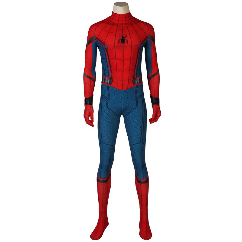 Spider-Man Homecoming Cosplay Peter Benjamin Parker Costume Jumpsuit Zentai Bodysuit Adult Men Halloween Party Outfit