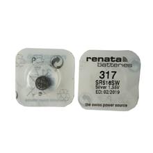 2pcs/lot Renata LONG LASTING 317 SR516SW SR62 D317 V317 Watch Battery Silver Oxide Batteries Free Shipping 3pc renata silver oxide watch battery 315 sr716sw 716 1 55v 100