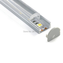 100 x 1M Sets/Lot U type cover line aluminium led profile and 30 degree recessed led channel for wall or ceiling lights