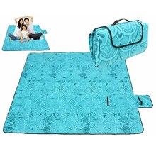 Пляжный с защитой от песка коврик водонепроницаемый 200x200 см Открытый Кемпинг коврик влагонепроницаемое одеяло Йога туризм пляж спальный коврик одеяло
