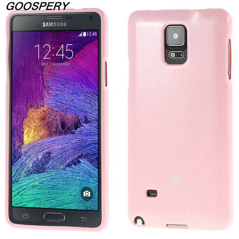 Mercury Cover For Galaxy Note 5 4 3 2 GOOSPERY Glitter Powder Jelly TPU Case for Samsung Galaxy S8 s7 s6 s5 s4 s3 s2 A3 A5 2017