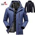 Зимнее пальто мужчины водонепроницаемый Толстые Теплые женщины/мужчины пуховик верхней одежды Ветрозащитный два в одном куртка мужчины куртка размер 5XL, 6XL