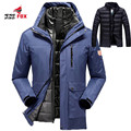 Winter coat men waterproof Thick Warm women/men down jacket outwear Windproof two in one parka men jacket size 5XL,6XL