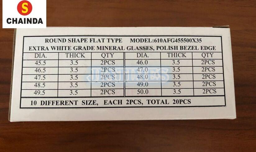 redonda polido vidro mineral kit para o reparo do relógio