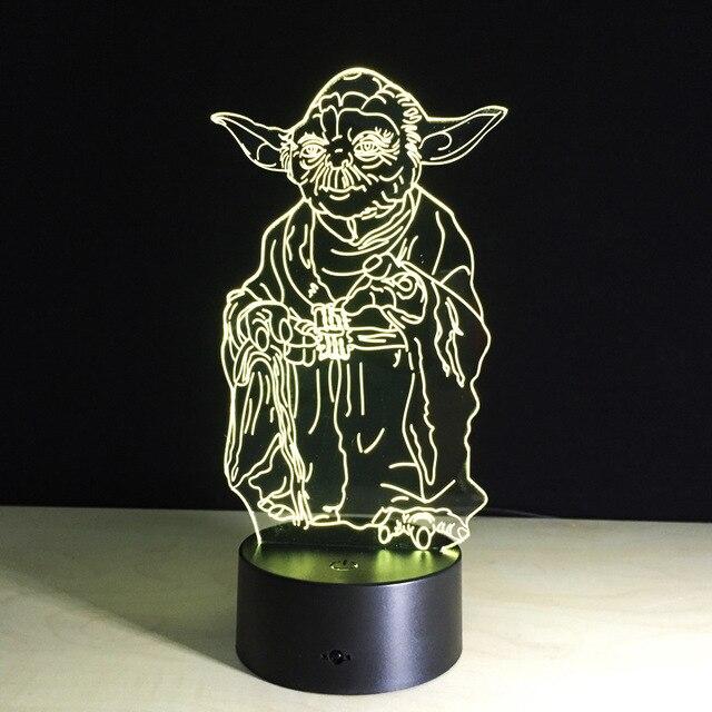 Star Wars 3D Illusion LED Night Light BB8 Walker Darth Vader R2D2  Millennium Falcon Batman Joker