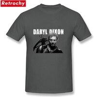 Gốc Người Lớn Daryl Dixon The Walking Dead T-Shirt Ngắn Tay 100% Cotton Chủ Đề Nóng trang phục Men Summer Tees