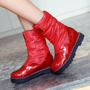 Image 5 - Taoffen nowa zimowa kobieta matka buty antypoślizgowe wodoodporne buty ocieplane bawełną kobiety macierzyństwo pluszowe śniegowce rozmiar 33 43