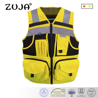 Reflective Vest with Pockets High Visibility Safety Vest Outdoor