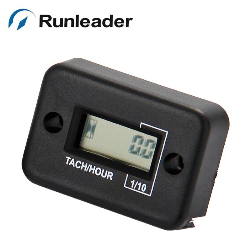 LCD Waterproof Tachometer Hour Meter for Outboard Motor, Yacht, Marine, Jet Ski