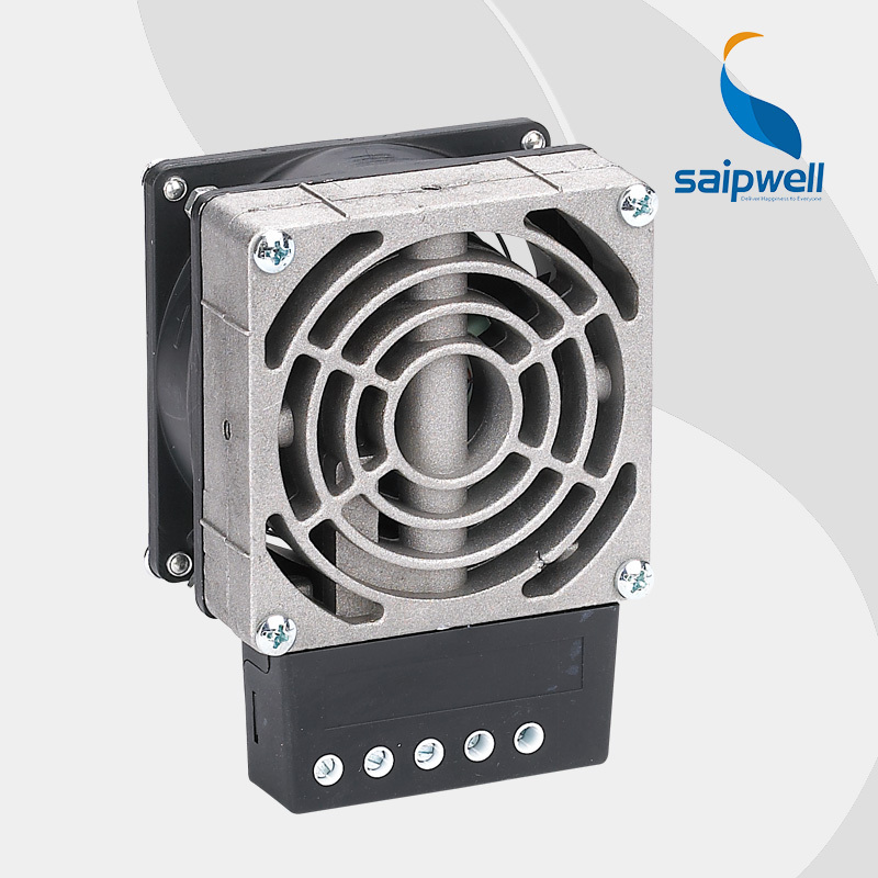 Saipwell industrial PTC heat Fan 300W din rail casting heater For Electric Cabinet and factory 120VAC/230VAC Type HVL031