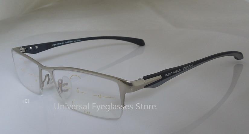 custom made freeform progressive glasses,Aluminum Magnesium alloy frame  Elastic TR90 temple+freeform progressive lenses, Large
