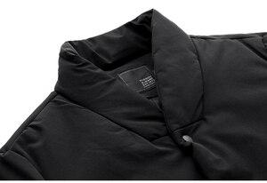 Image 4 - Inverno dos homens parkas com capuz grosso cor preta para 2020 novo homem magro ajuste roupas quentes marca masculino wear casacos mais tamanho 0281