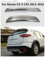 Stainless steel car Front + Rear Bumper Diffuser Protector Guard Skid Plate Fit For Mazda CX 5 CX5 2013 2014 2015 2016 BY EMS