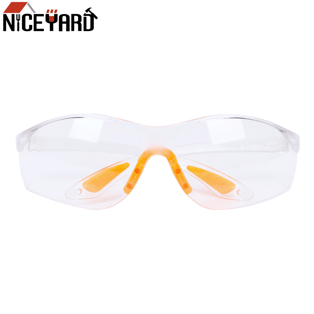 NICEYARD Outdoor Safety Eye Protective Goggles Anti-dust Soft Silicone Nose Clip Unisex Sand Prevention Labor Insurance Glasses