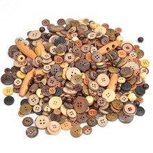50 грамм разных размеров деревянные пуговицы для скрапбукинга ремесла DIY Детские аксессуары для шитья одежды