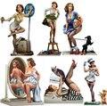Envío Libre 1/22 Scale figura De Resina chica Poker serie 6 modelos de 80mm