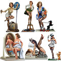 Free Shipping 1/22 Scale Resin figure Poker girl series  6 models  80mm