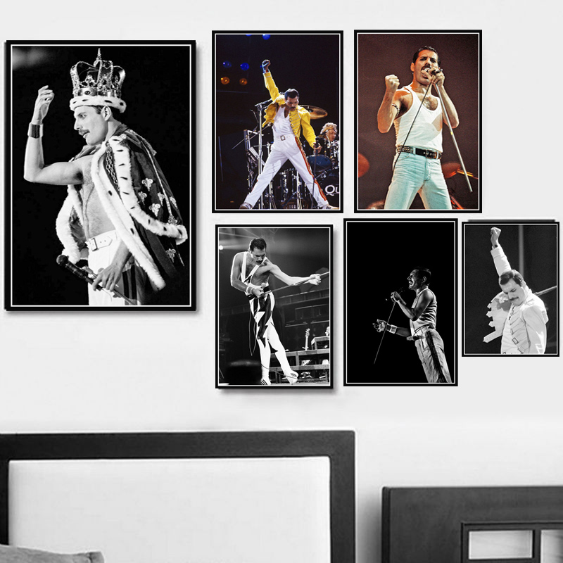 Queen Freddie Mercury Art Poster Bohemian Rhapsody Posters And Prints Wall Picture Canvas Painting Wall Art Room Home Decoration