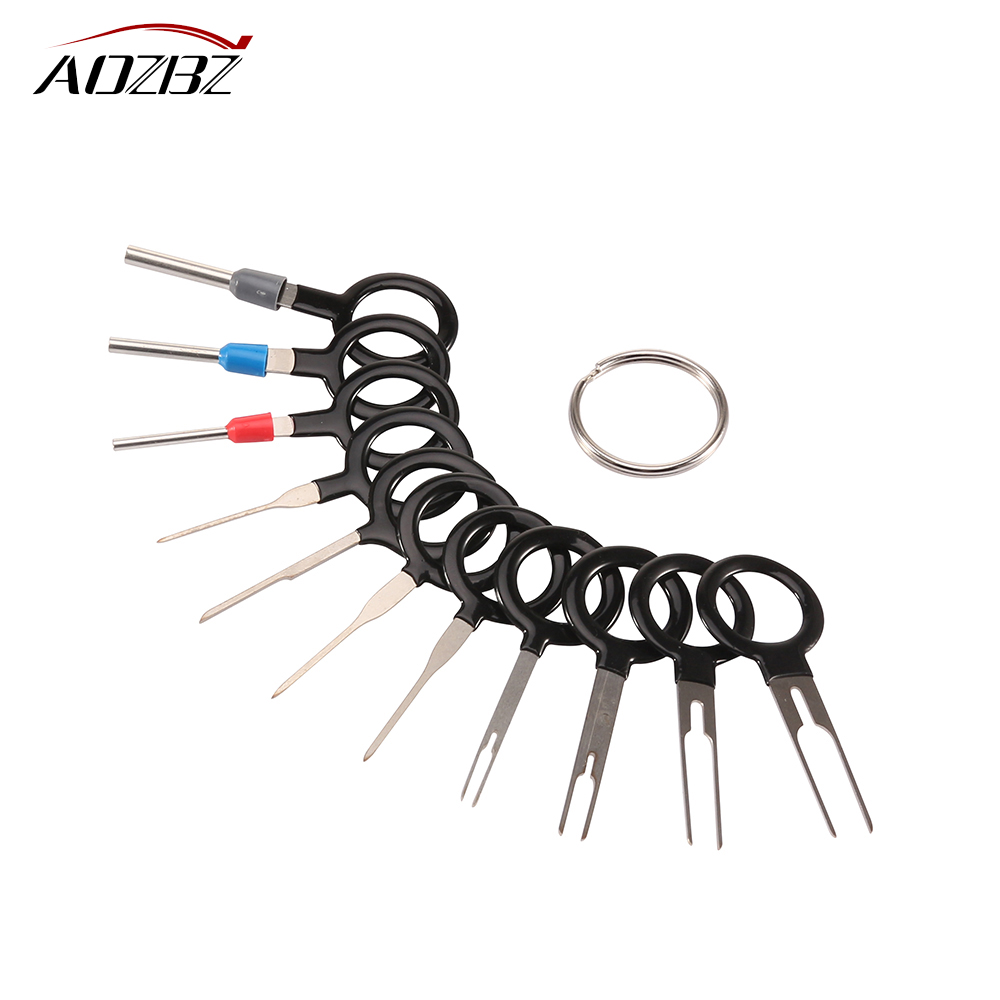 11pcs auto car plug circuit board wire harness terminal extractor pick connector crimp pin back