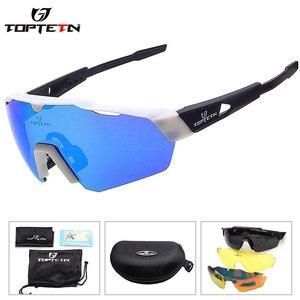 Мужские и женские велосипедные очки TR90, поляризационные брендовые солнцезащитные очки с 3 линзами для занятий спортом на открытом воздухе, ...