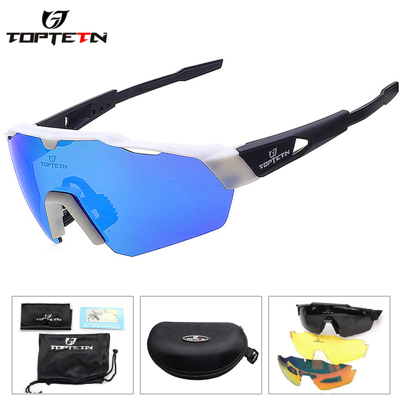 2019 NEW 3 Lens Brand Design Outdoor Sports Polarized Cycling Glasses Eyewear TR90 Men Women Bike Bicycle Sunglasses MTB Goggles image