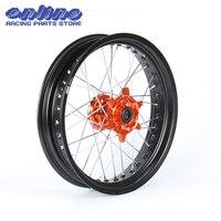 3.5*17 супермото для переднего колеса оранжевый концентратор обод KTM SX MXC XC GS sxs excf sxsf xcg отл xcw 125 150 200 250 350 450 530 03 2014