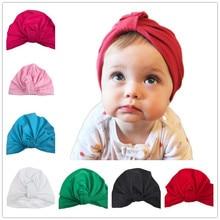 Recién nacido sombrero turbante con el arco del bebé Mostaza oliva sombrero Del Niño elegante Moño gorro Foto Props 0-6 M Del Bebé regalo de la ducha de 1 unid H033
